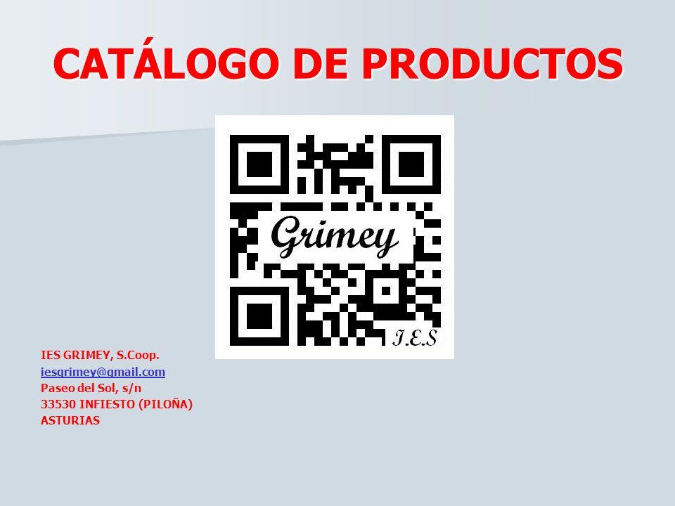 CATÁLOGO DE PRODUCTOSIES GRIMEY, S.Coop.