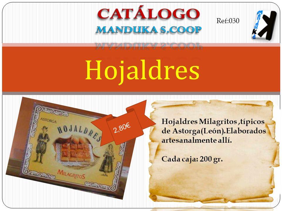 Ref:030 Hojaldres. Hojaldres Milagritos ,típicos de Astorga(León).Elaborados artesanalmente allí. Cada caja: 200 gr.