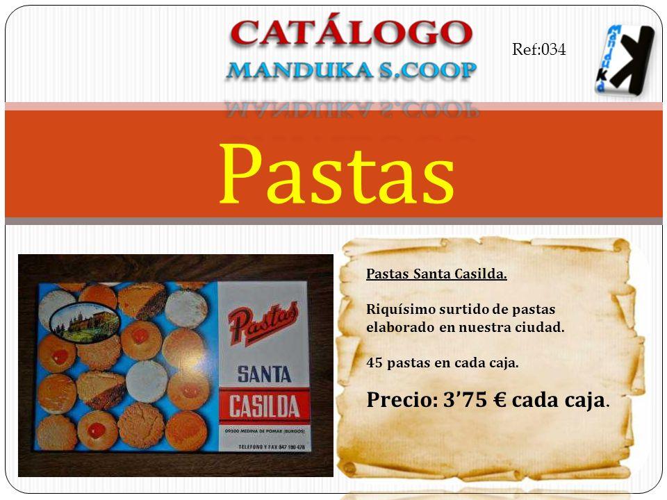 Pastas Precio: 3'75 € cada caja. Ref:034 Pastas Santa Casilda.