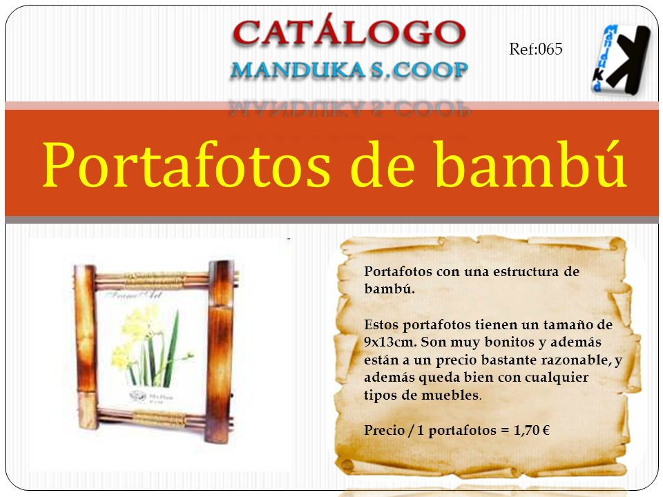 Portafotos de bambú Ref:065 Portafotos con una estructura de bambú.