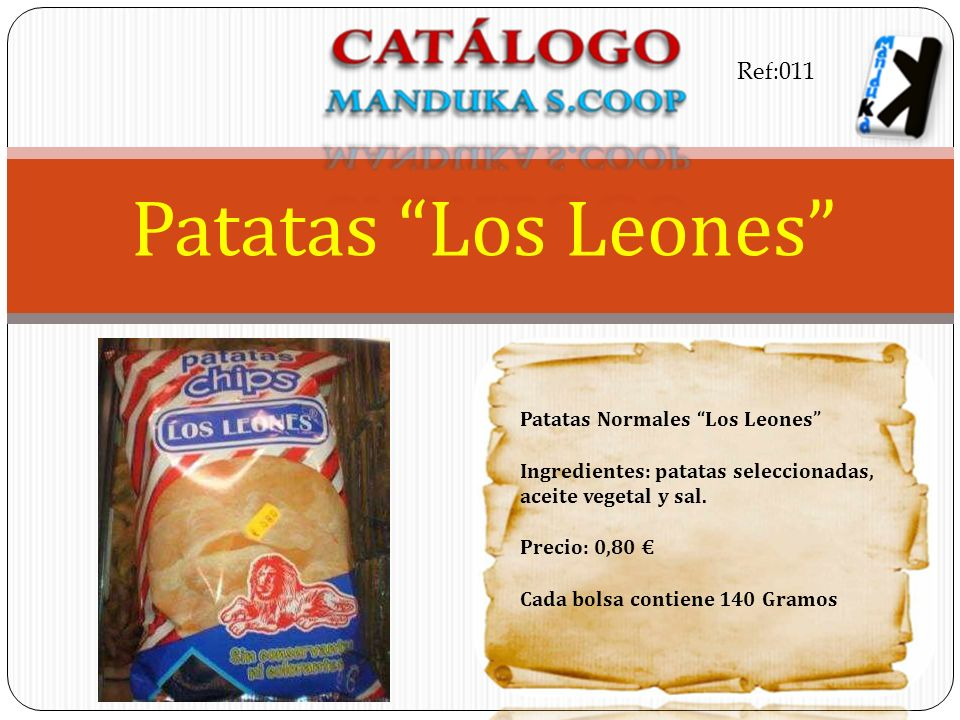 Patatas Los Leones Ref:011 Patatas Normales Los Leones