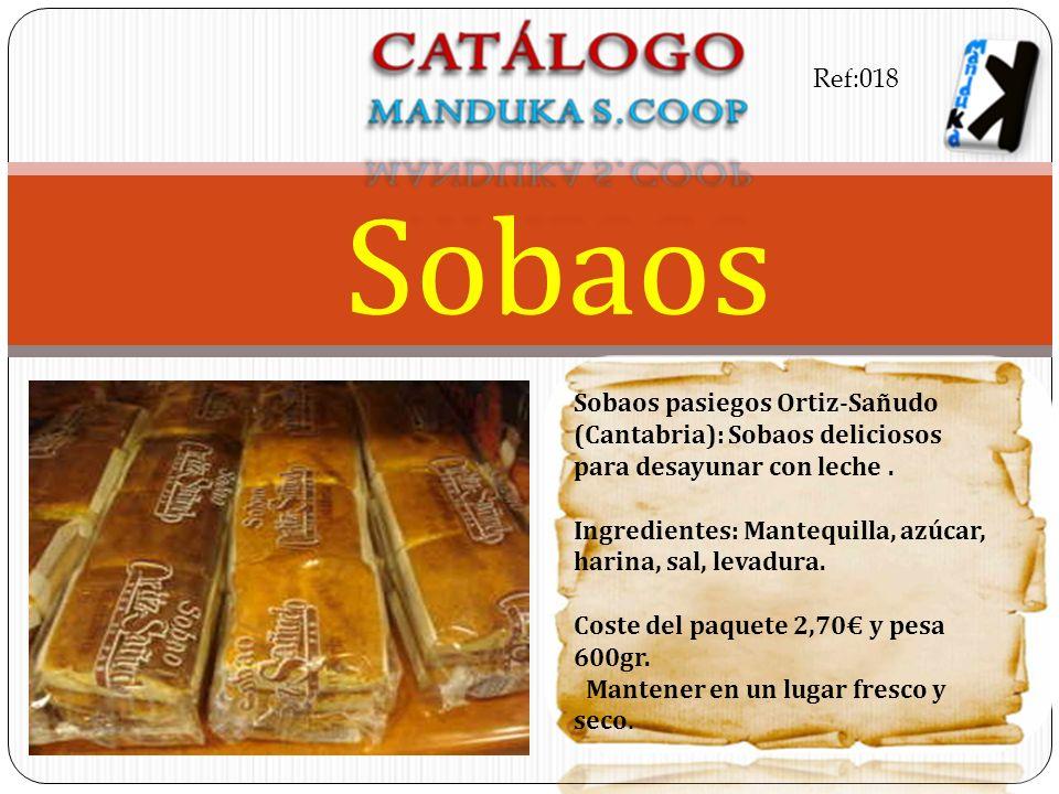 Ref:018 Sobaos. Sobaos pasiegos Ortiz-Sañudo (Cantabria): Sobaos deliciosos para desayunar con leche .