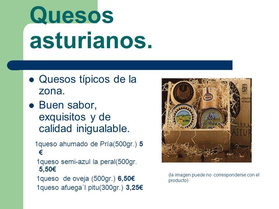Quesos asturianos. Quesos típicos de la zona.