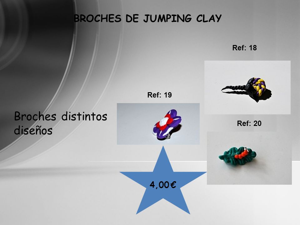 BROCHES DE JUMPING CLAY