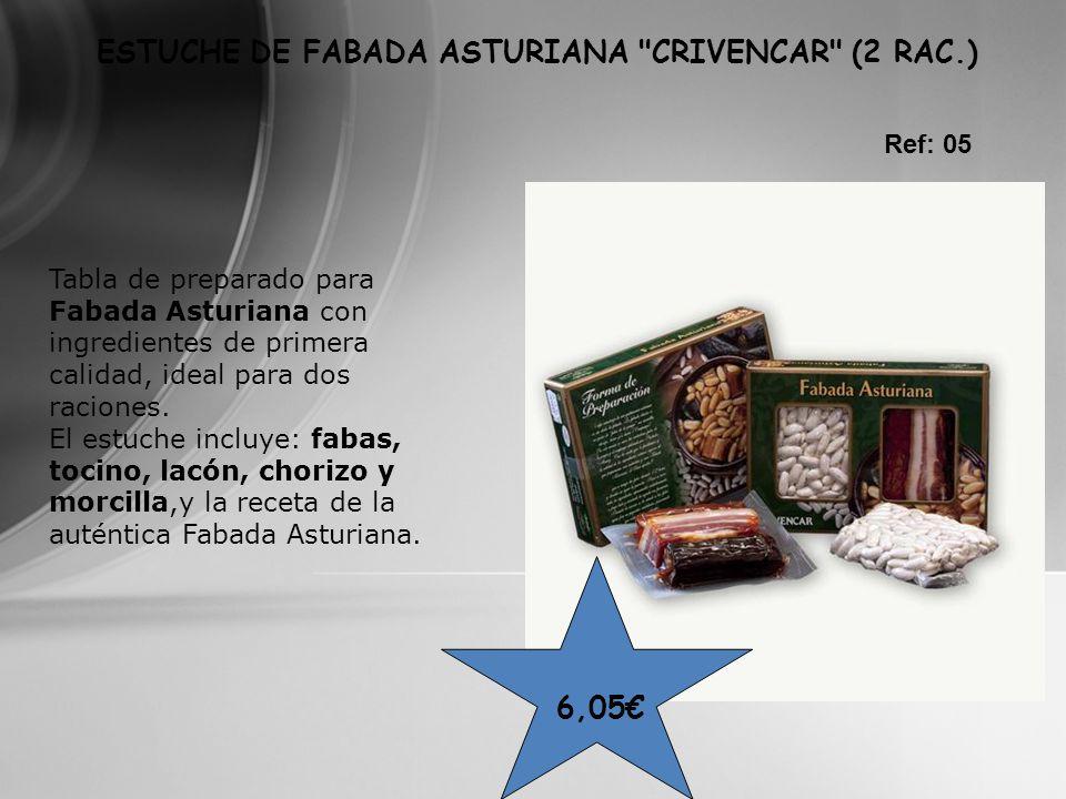 ESTUCHE DE FABADA ASTURIANA CRIVENCAR (2 RAC.)