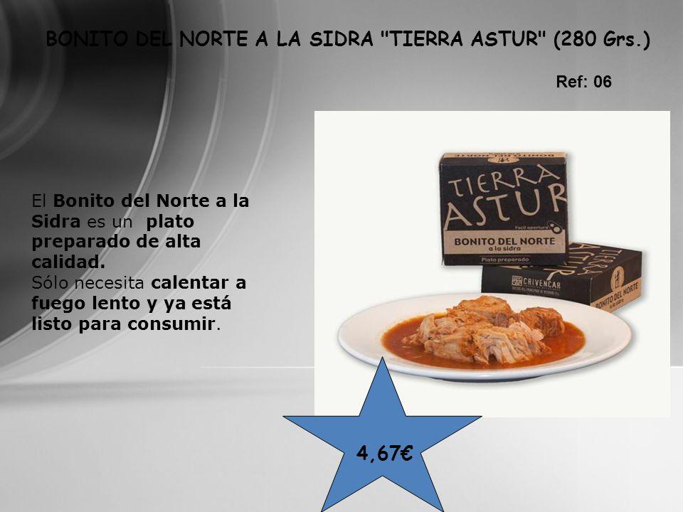 BONITO DEL NORTE A LA SIDRA TIERRA ASTUR (280 Grs.)