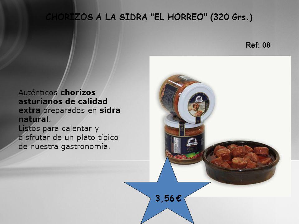 CHORIZOS A LA SIDRA EL HORREO (320 Grs.)