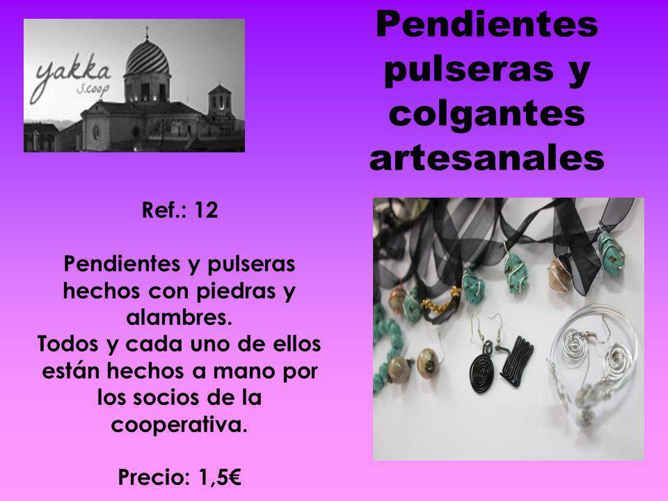 Pendientes pulseras y colgantes artesanales
