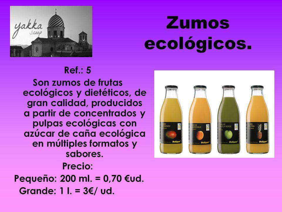 Zumos ecológicos. Ref.: 5.