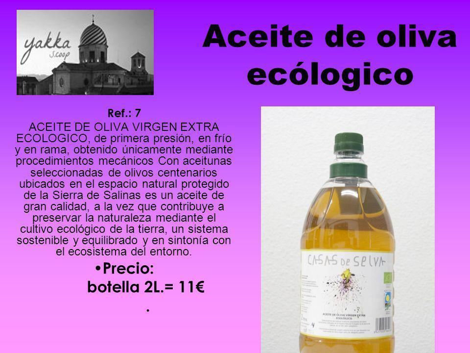 Aceite de oliva ecólogico