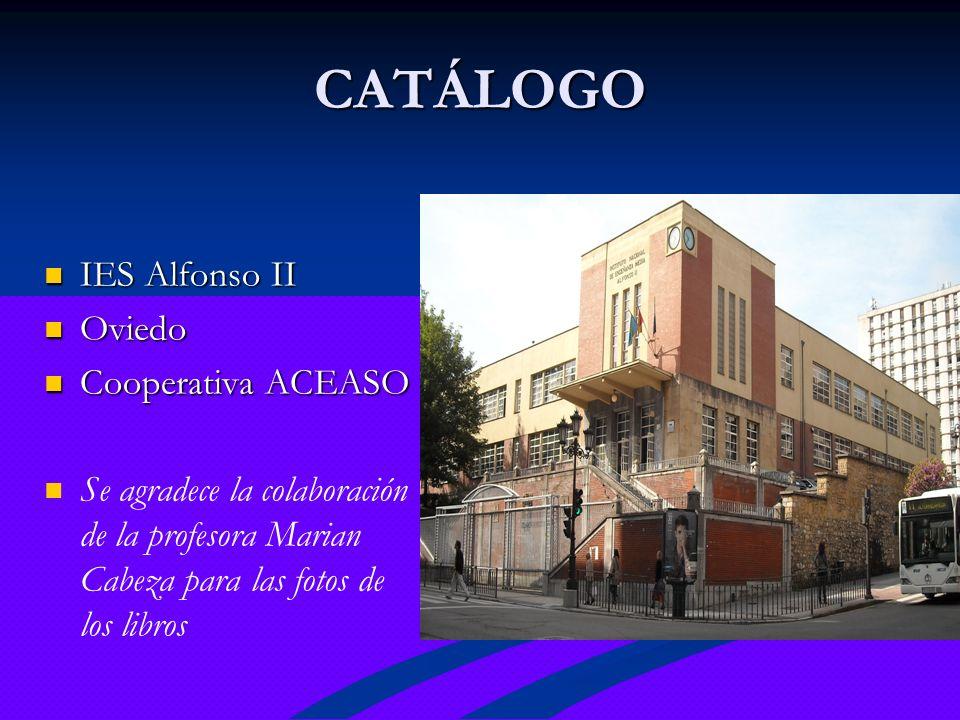 CATÁLOGO IES Alfonso II Oviedo Cooperativa ACEASO