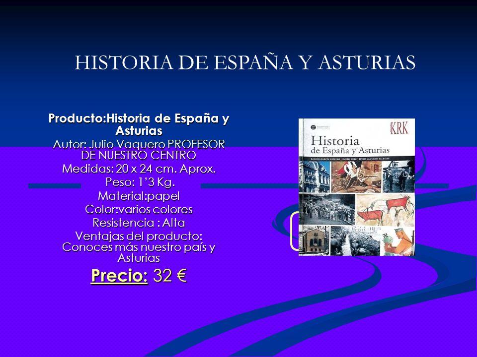 Producto:Historia de España y Asturias