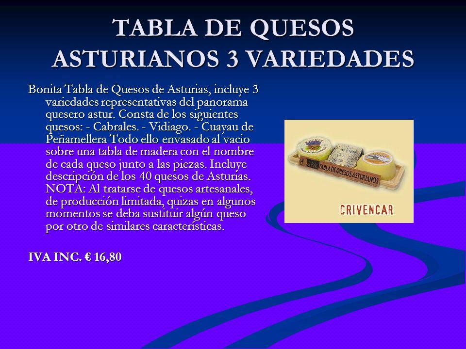 TABLA DE QUESOS ASTURIANOS 3 VARIEDADES