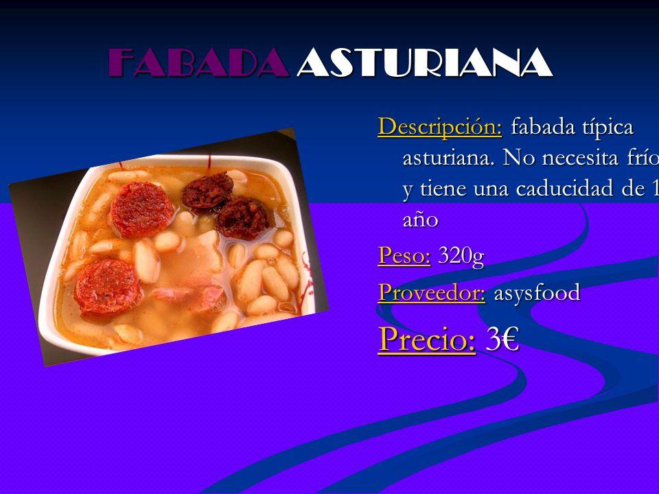 FABADA ASTURIANA Precio: 3€