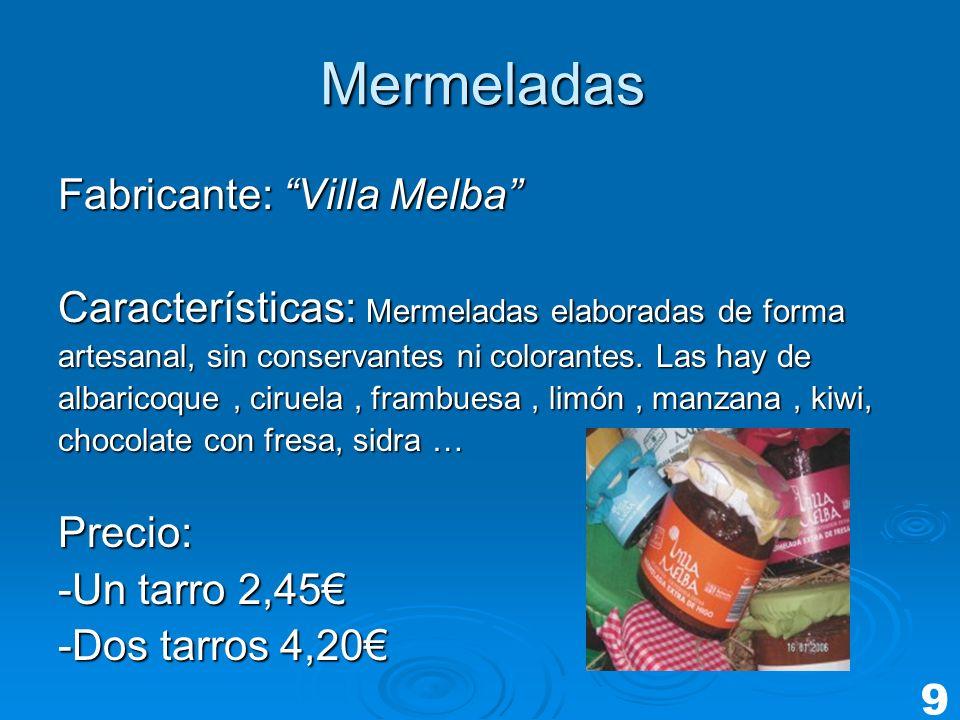 Mermeladas Fabricante: Villa Melba