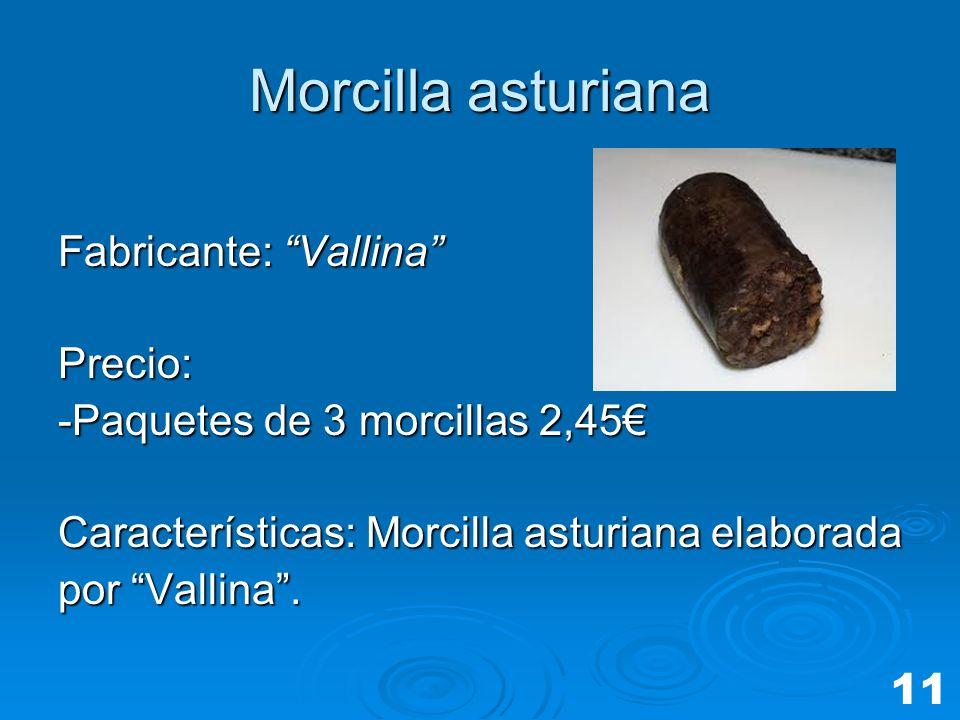 Morcilla asturiana Fabricante: Vallina Precio: