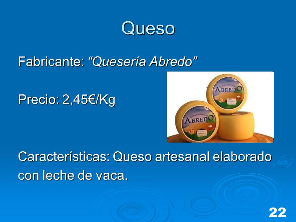Queso Fabricante: Quesería Abredo Precio: 2,45€/Kg
