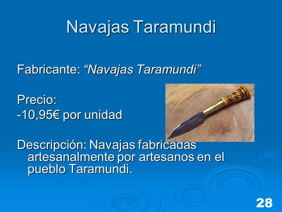 Navajas Taramundi Fabricante: Navajas Taramundi Precio: