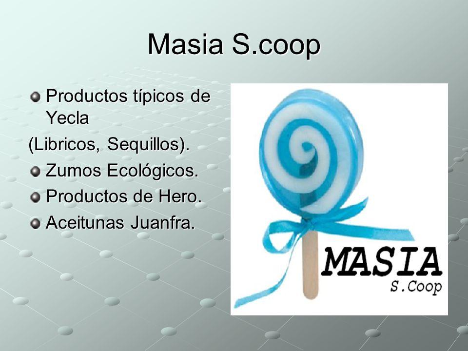 Masia S.coop Productos típicos de Yecla (Libricos, Sequillos).