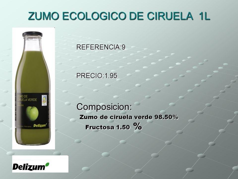 ZUMO ECOLOGICO DE CIRUELA 1L
