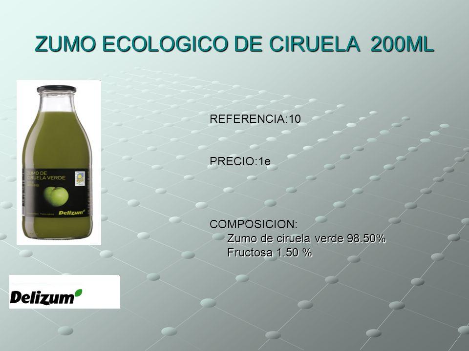ZUMO ECOLOGICO DE CIRUELA 200ML
