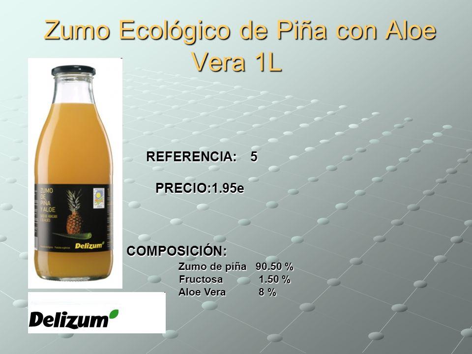 Zumo Ecológico de Piña con Aloe Vera 1L