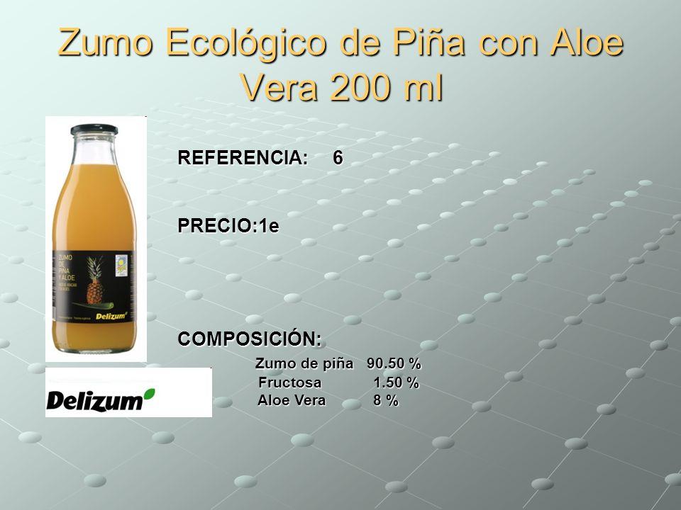 Zumo Ecológico de Piña con Aloe Vera 200 ml