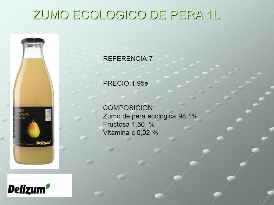 ZUMO ECOLOGICO DE PERA 1L