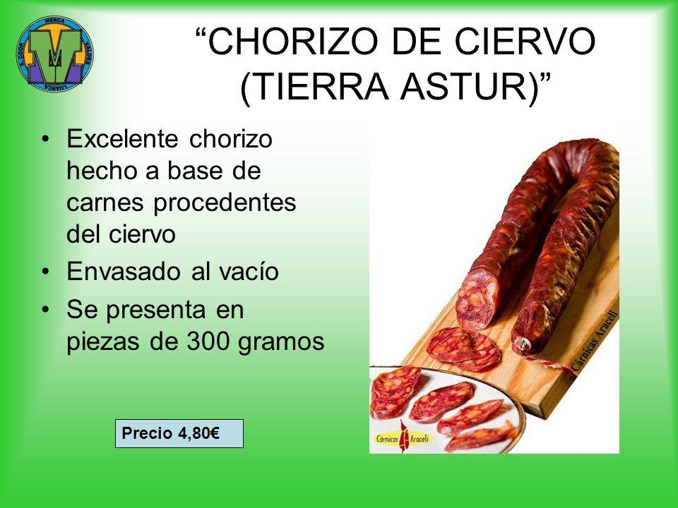 CHORIZO DE CIERVO (TIERRA ASTUR)