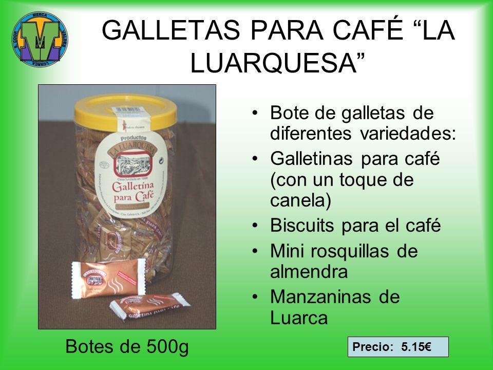 GALLETAS PARA CAFÉ LA LUARQUESA