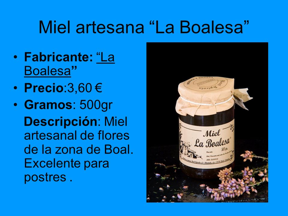 Miel artesana La Boalesa