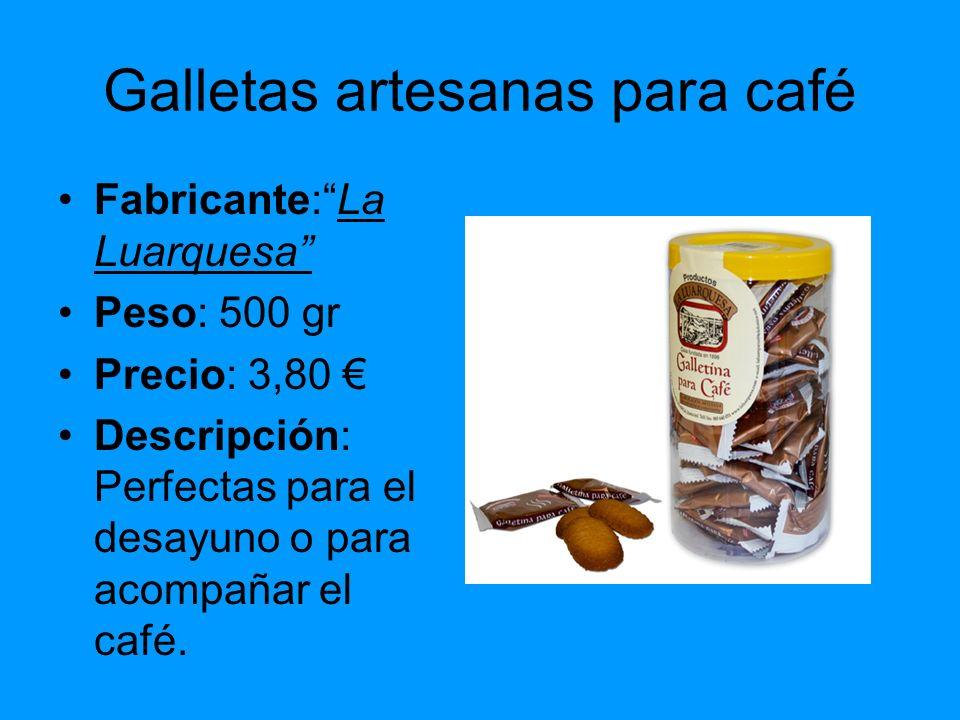 Galletas artesanas para café