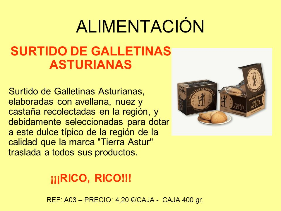 SURTIDO DE GALLETINAS ASTURIANAS