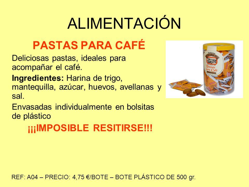ALIMENTACIÓN PASTAS PARA CAFÉ