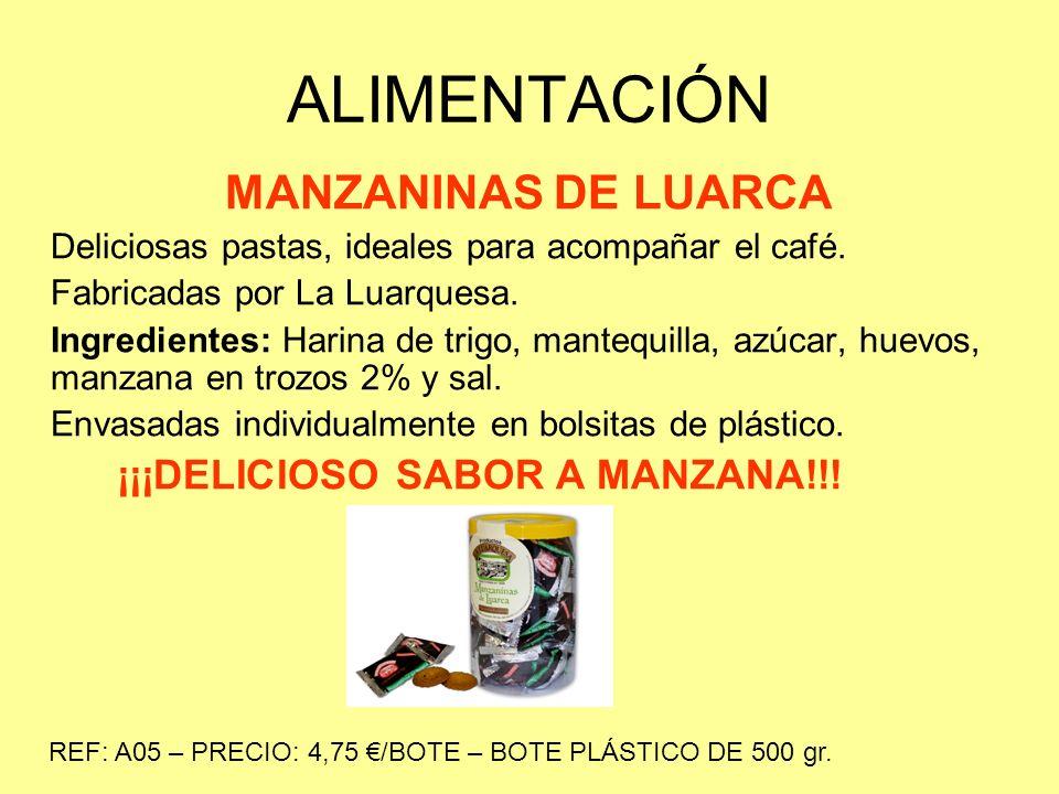 ALIMENTACIÓN MANZANINAS DE LUARCA