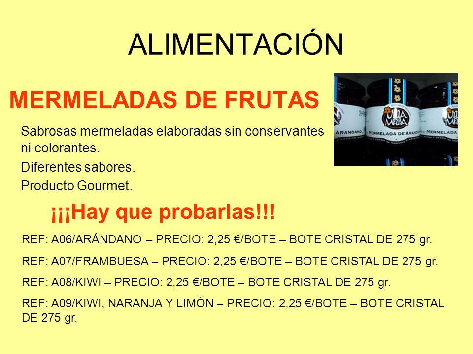 ALIMENTACIÓN MERMELADAS DE FRUTAS