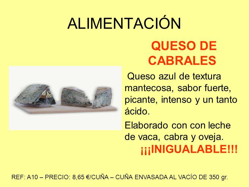ALIMENTACIÓN QUESO DE CABRALES