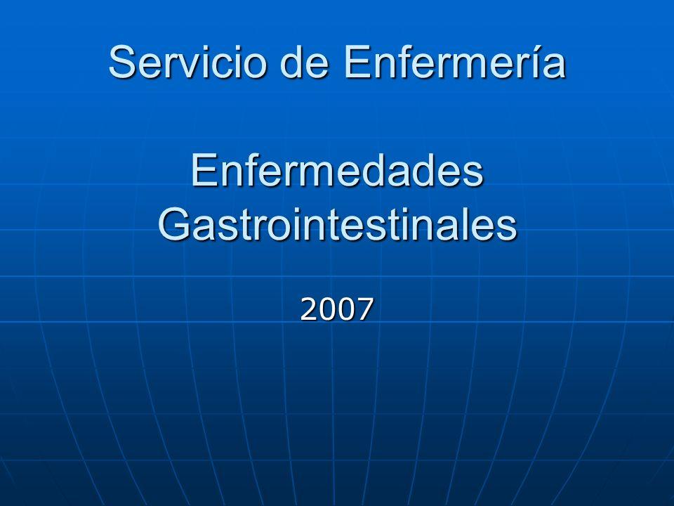 Servicio de Enfermería Enfermedades Gastrointestinales