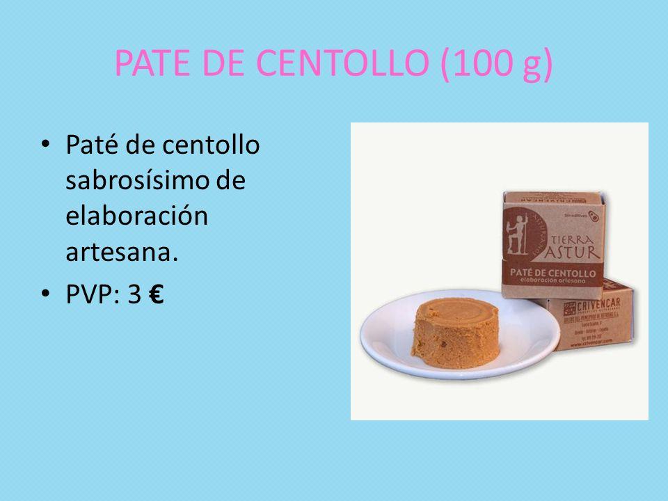 PATE DE CENTOLLO (100 g) Paté de centollo sabrosísimo de elaboración artesana. PVP: 3 €