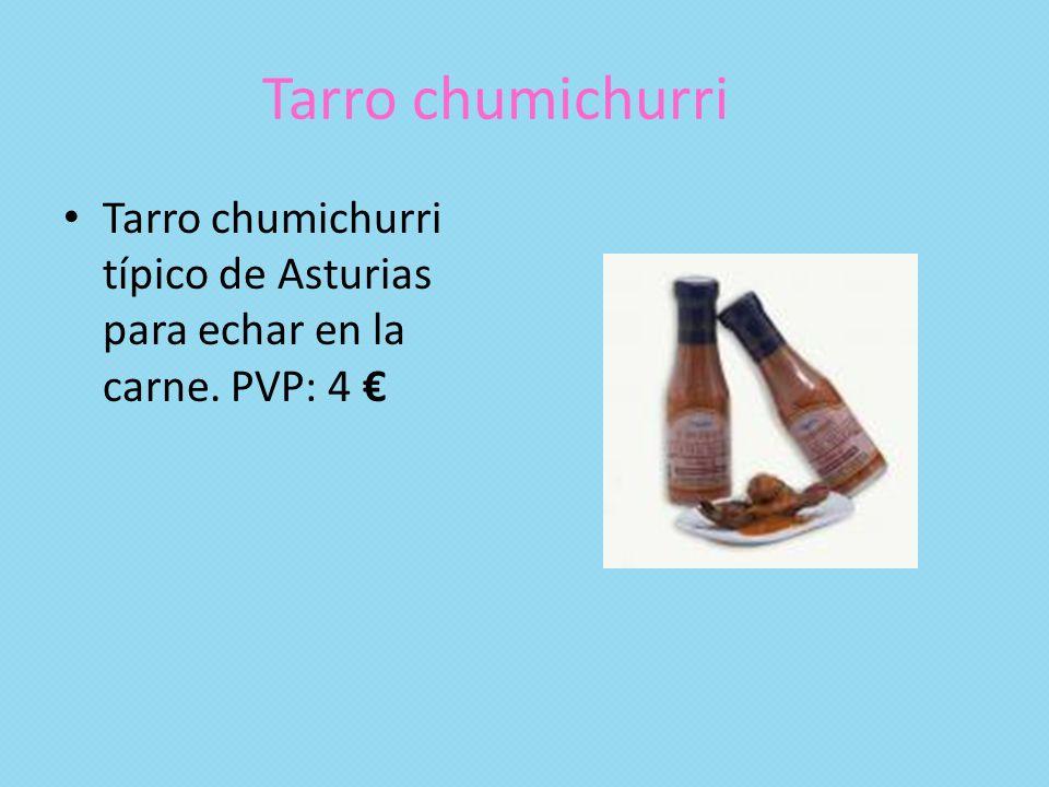 Tarro chumichurri Tarro chumichurri típico de Asturias para echar en la carne. PVP: 4 €
