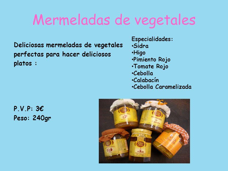 Mermeladas de vegetales