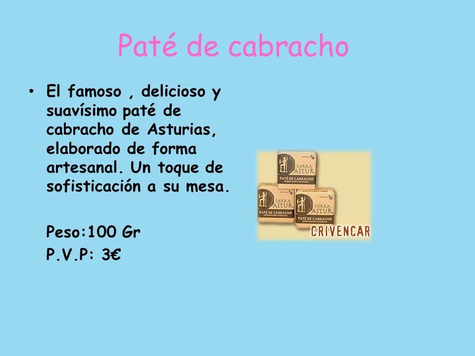 Paté de cabracho El famoso , delicioso y suavísimo paté de cabracho de Asturias, elaborado de forma artesanal. Un toque de sofisticación a su mesa.