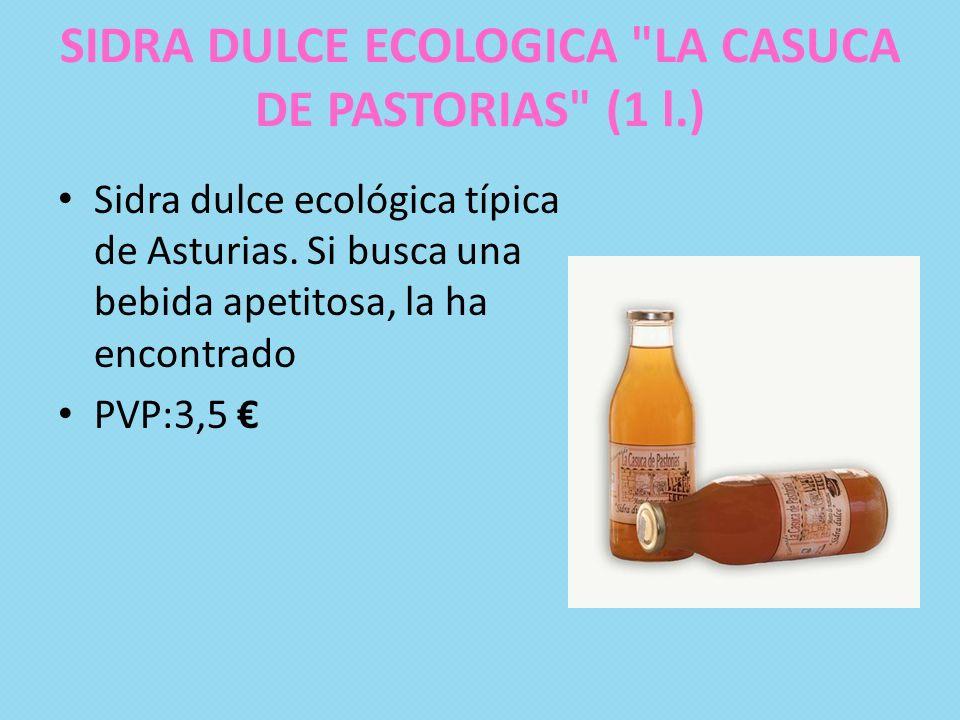 SIDRA DULCE ECOLOGICA LA CASUCA DE PASTORIAS (1 l.)