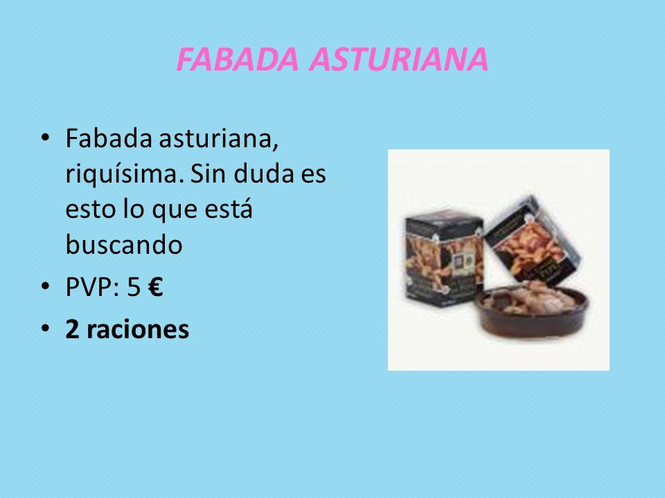 FABADA ASTURIANA Fabada asturiana, riquísima. Sin duda es esto lo que está buscando.