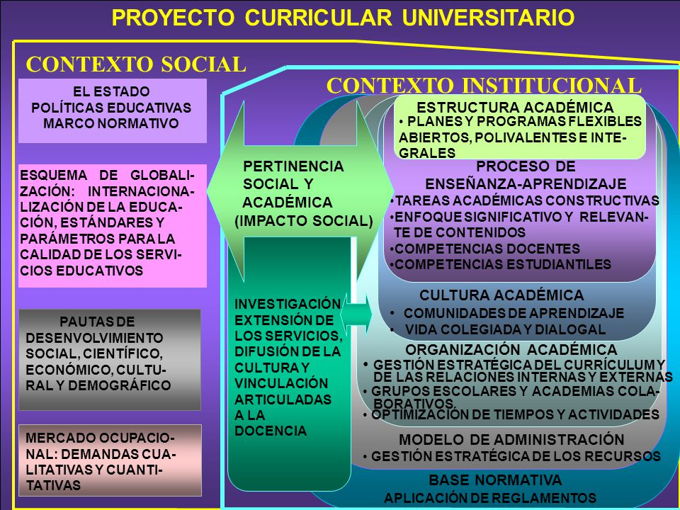 PROYECTO CURRICULAR UNIVERSITARIO