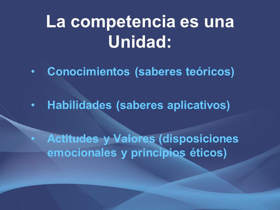 La competencia es una Unidad: