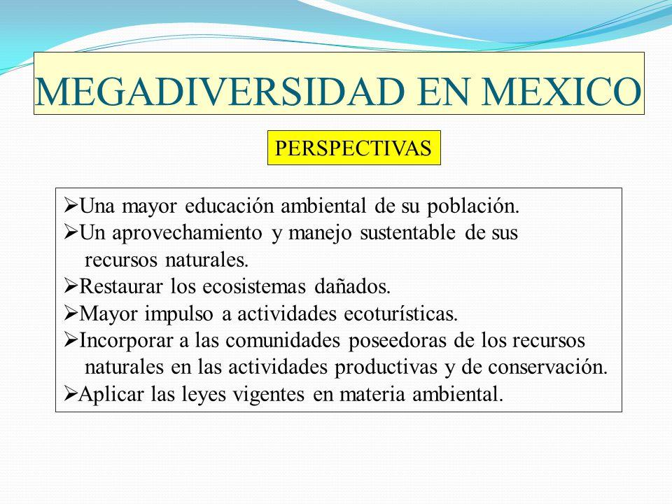 MEGADIVERSIDAD EN MEXICO