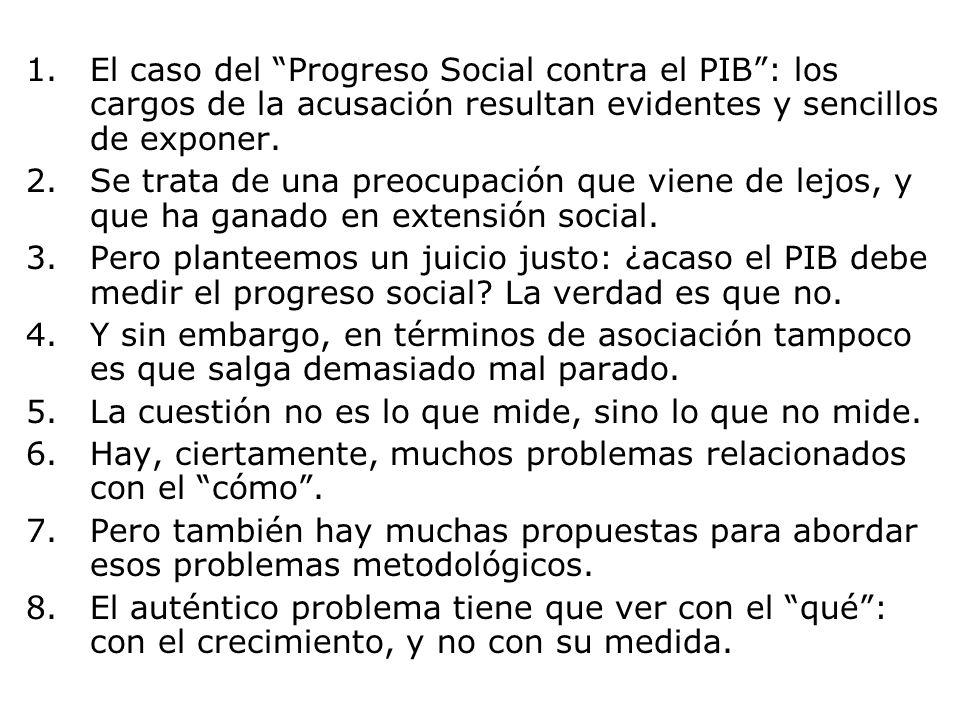 El caso del Progreso Social contra el PIB : los cargos de la acusación resultan evidentes y sencillos de exponer.