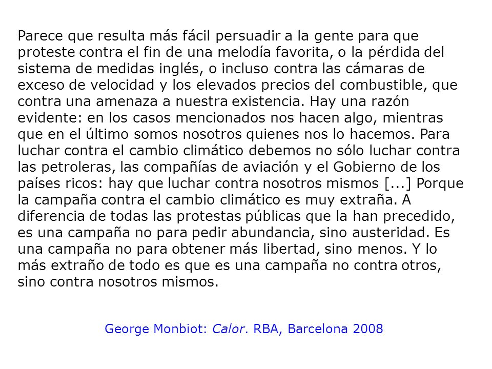 George Monbiot: Calor. RBA, Barcelona 2008