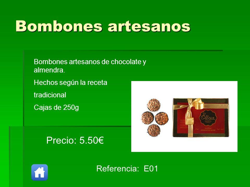 Bombones artesanos Precio: 5.50€ Referencia: E01